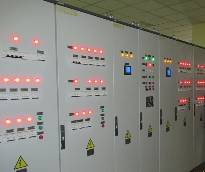 assebmling of electric substation auxliliaries board